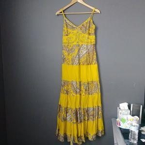 NWT Magic Maxi Embrodiered Beaded Dress